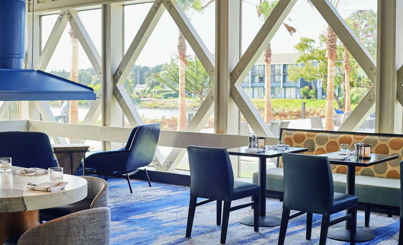 Indoor dining at Berkeley Boathouse